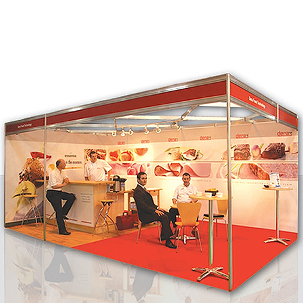 Shell Clad Exhibition Stand : M shell clad exhibition stand