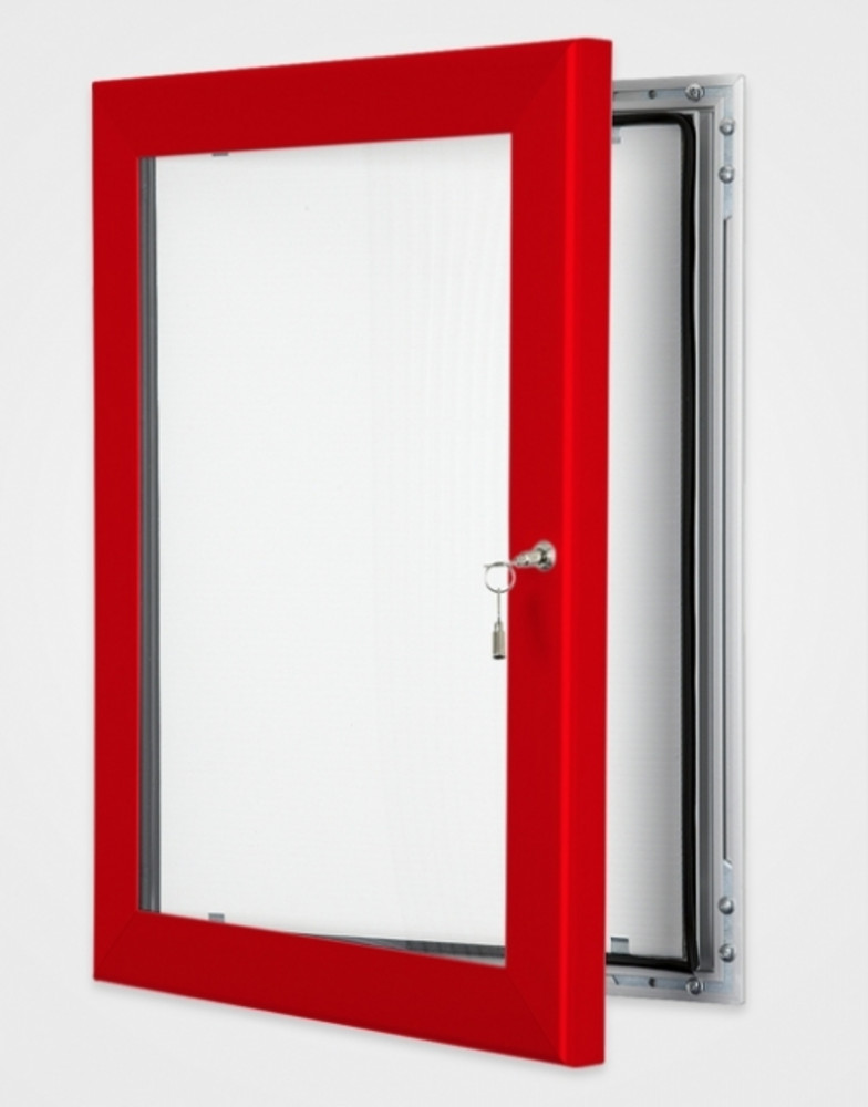 External notice board coloured frame for Creative notice board