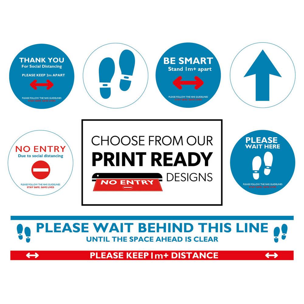 3 Units Yield Premium Anti-Slip Floor Decal Anti-Slip Premium