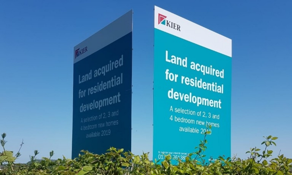 Post Mounted Signage for Kier Living
