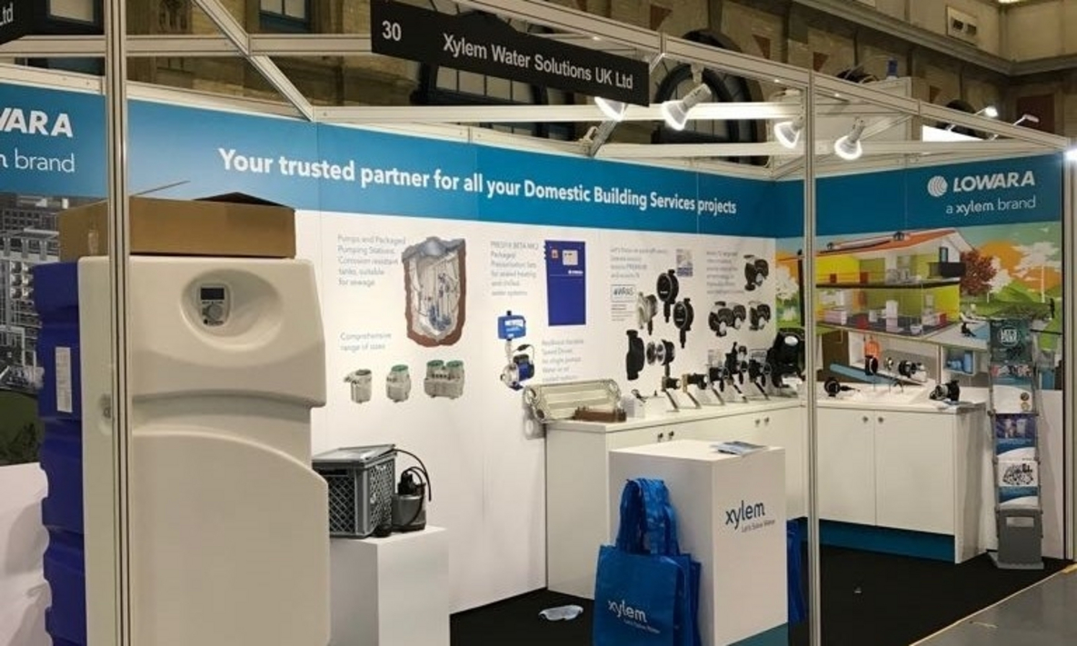 Exhibition Stand Displays for Xylem Water Solutions Ltd