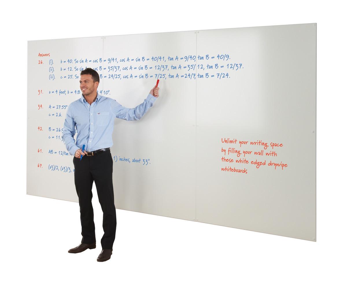 Frameless Write On Wall Whiteboard