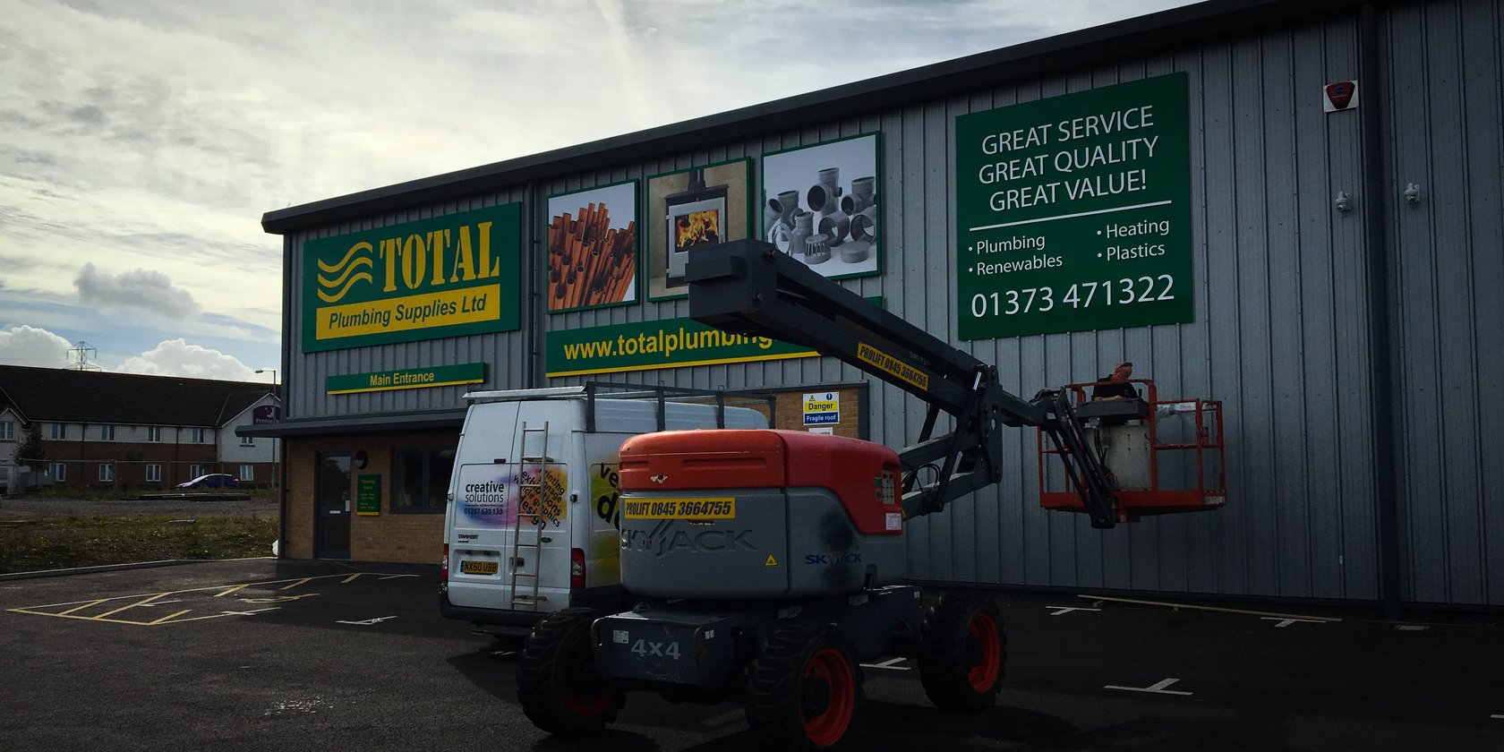 Total Plumbing Supplies Signage Installation by Creative Solutions