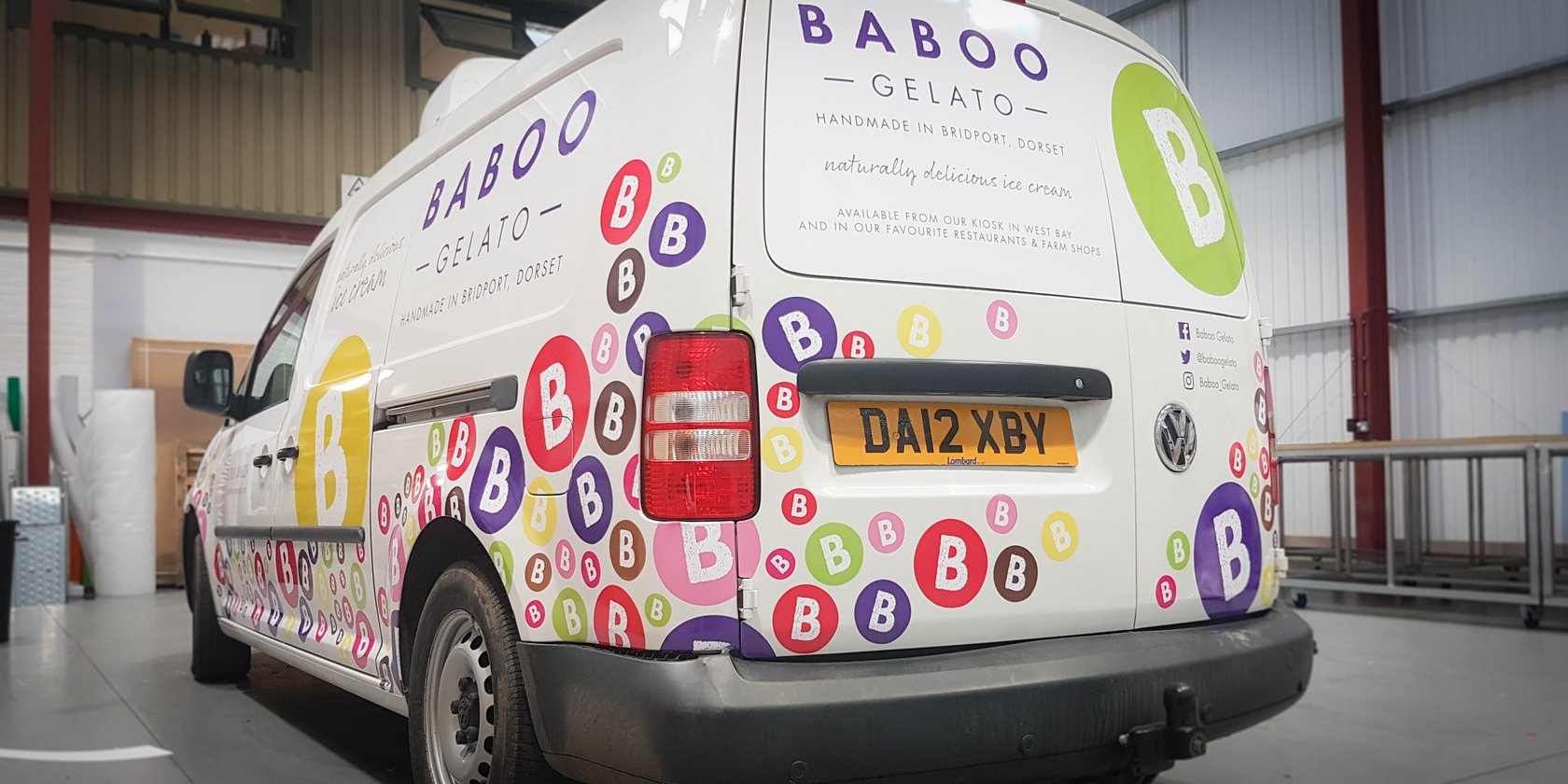 Van Signwriting for Baboo Gelato, Dorset