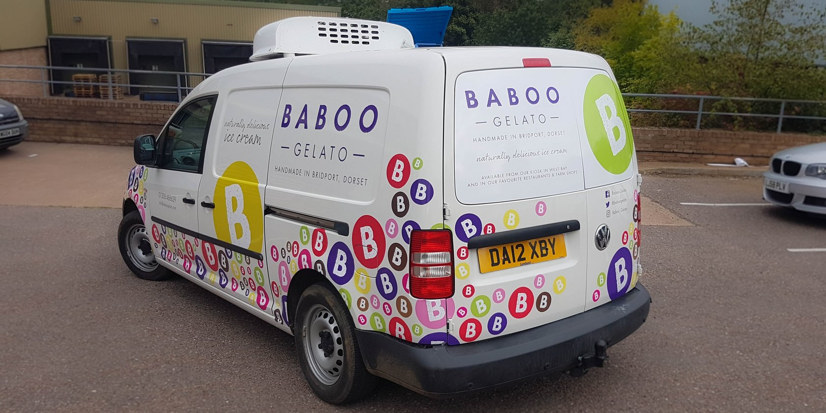 Van Graphics for Baboo Gelato, Dorset