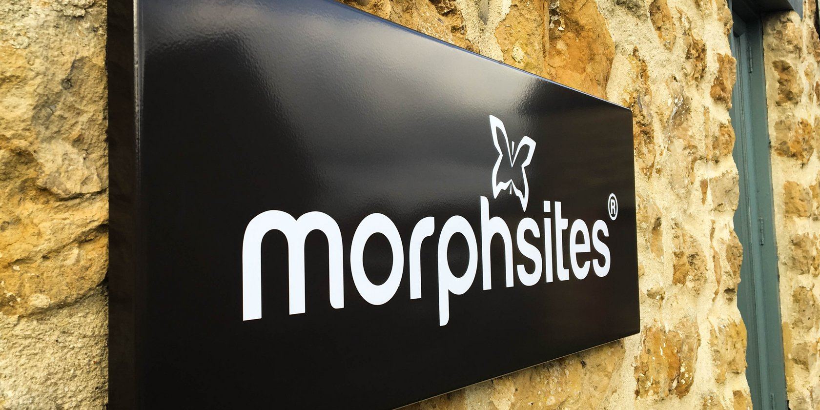 Wall Mounted Tray Sign for Morphsites