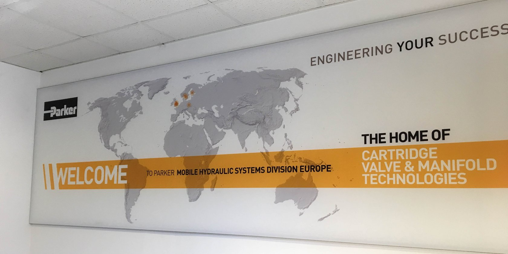 Internal Wall Display for Parker Hannifin