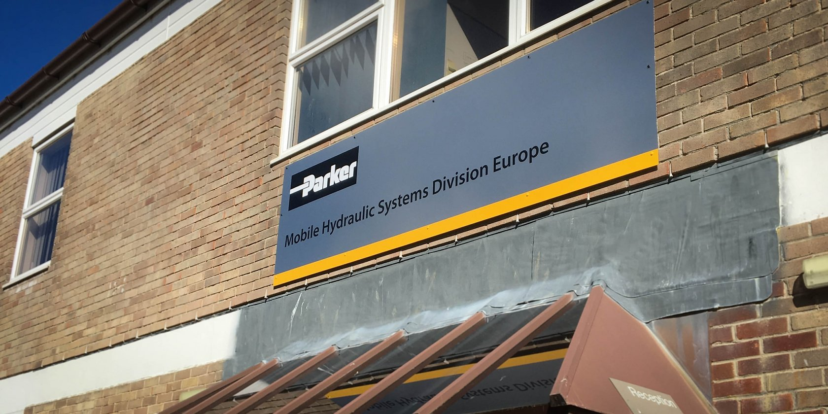 External Wall Mounted Sign for Parker Hannifin