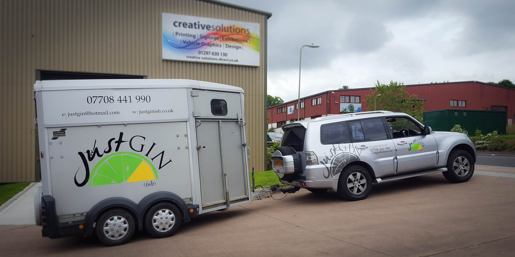 Just Gin Van and Trailer Vehicle Graphics