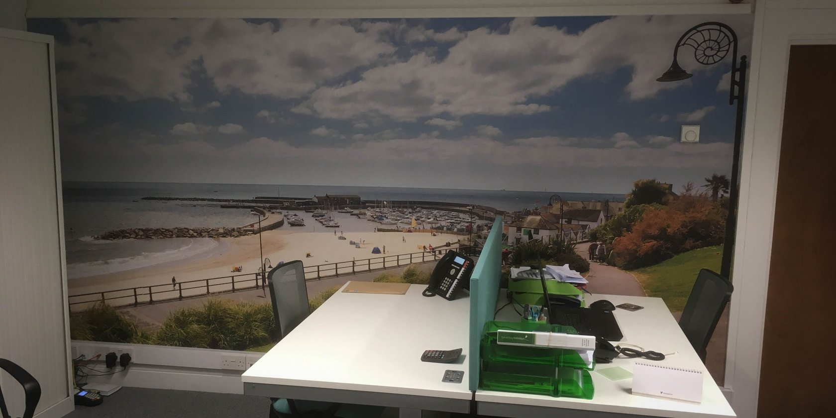 Lyme Bay Holidays Custom Printed Wallpaper