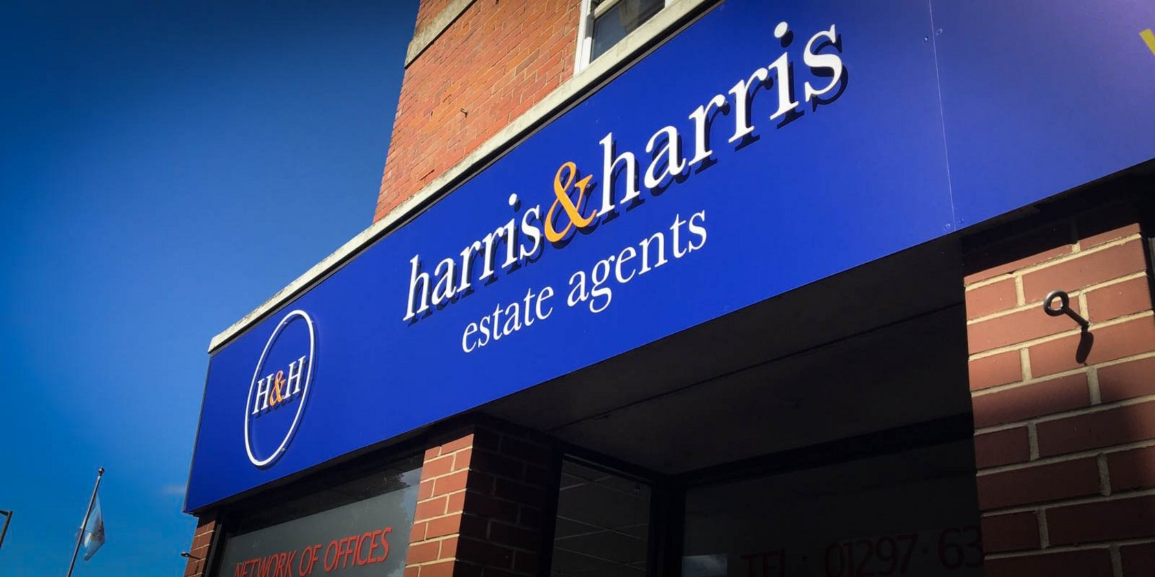 Estate Agent Signage Harris and Harris