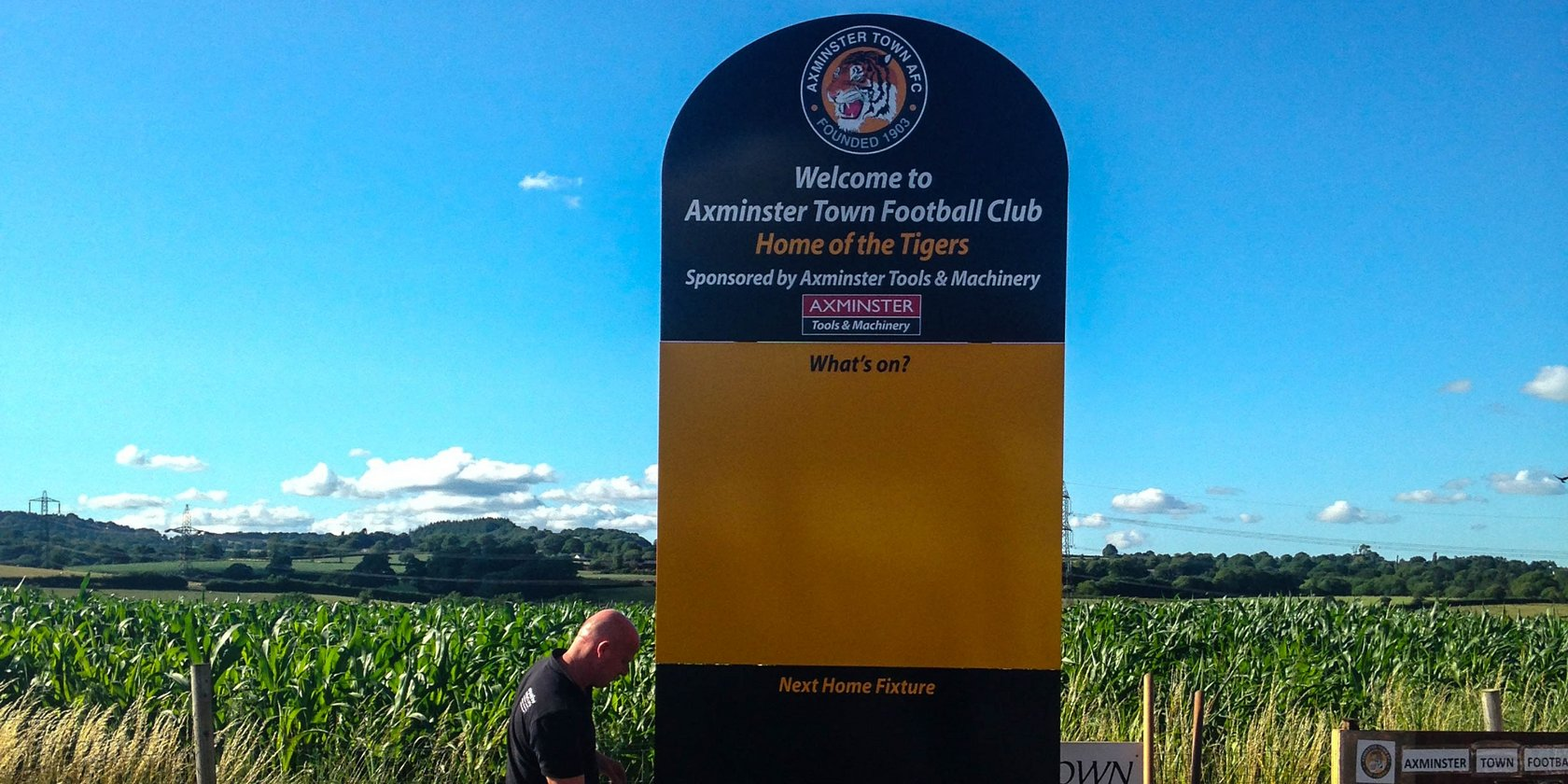 Axminster FC Main Sign