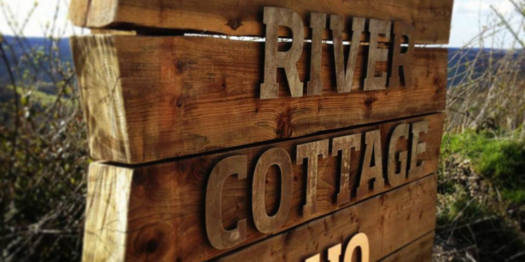 River Cottage Bespoke Wooden Sign