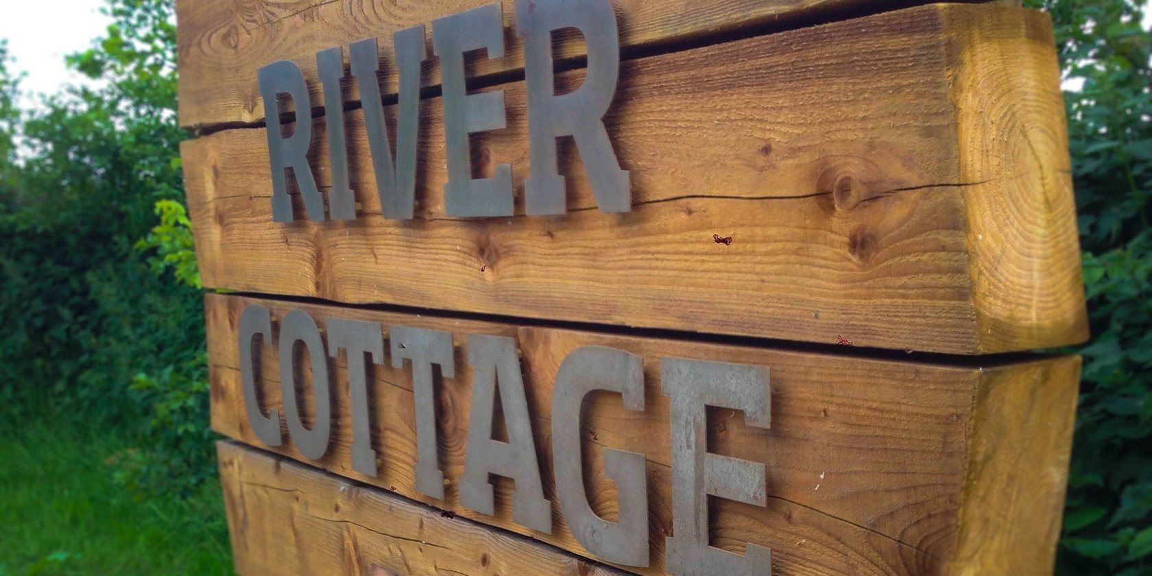 River Cottage Wooden Sign