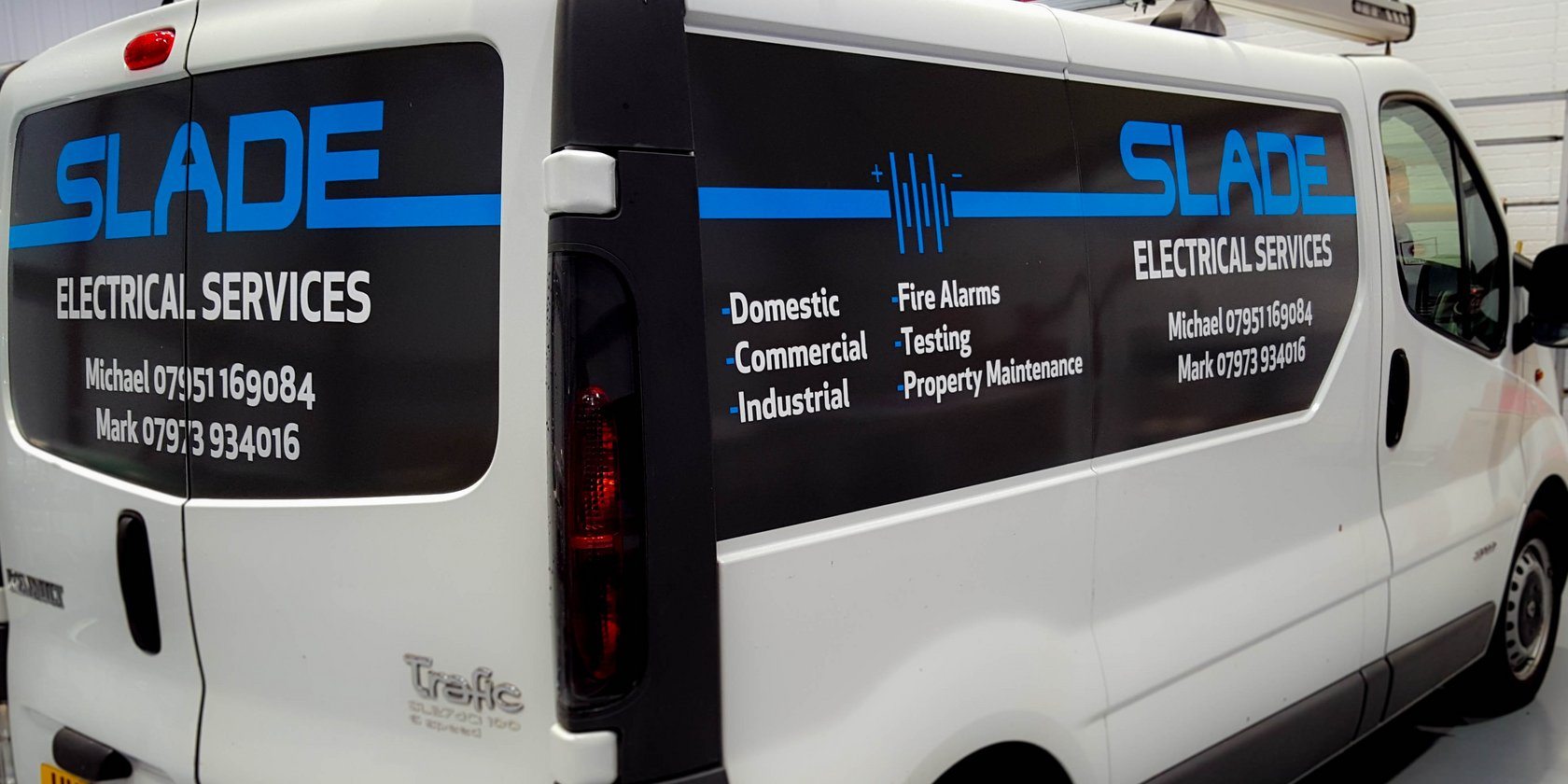 Slade Electrical Services Van Graphics