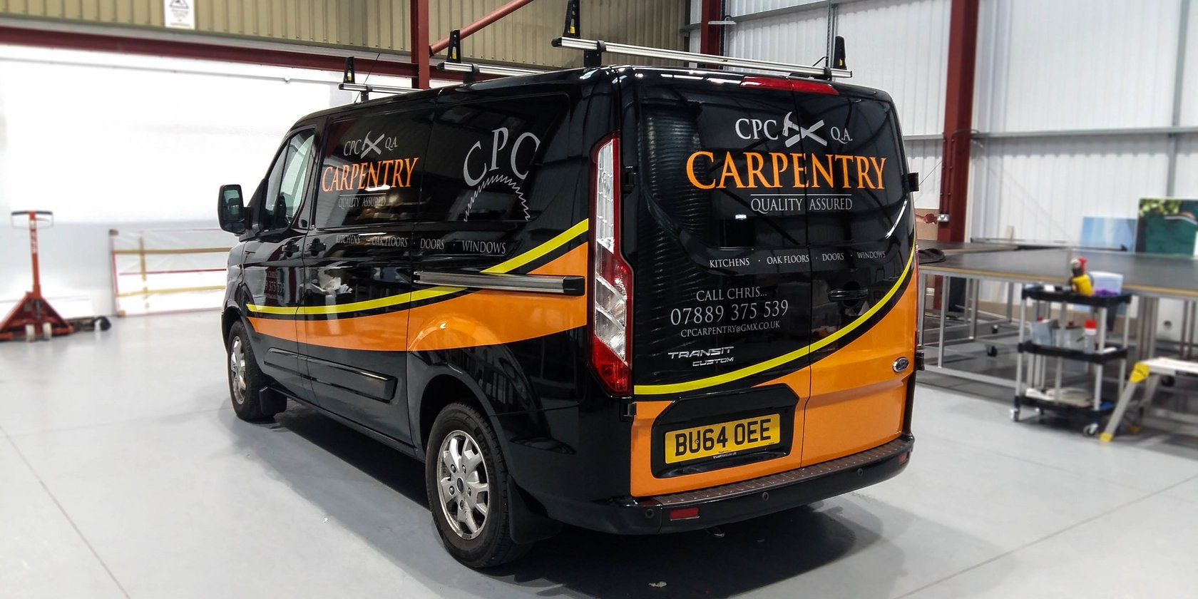 Van Signwriting CPC Carpentry