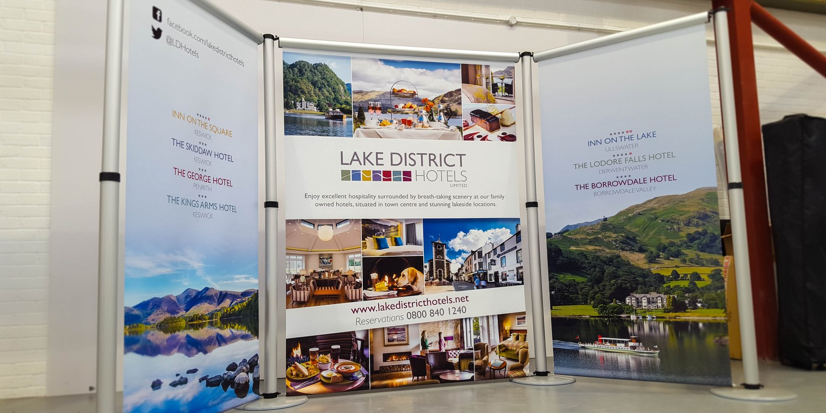 Aero Banner Stand Lake District Hotels