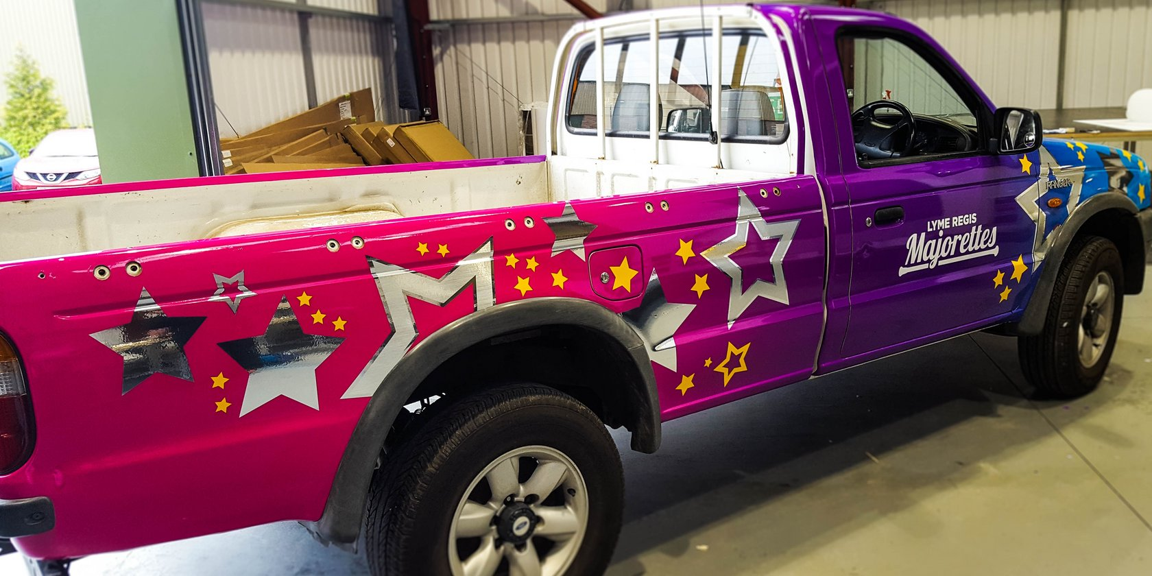 Vehicle Wrapping for Lyme Regis Majorettes