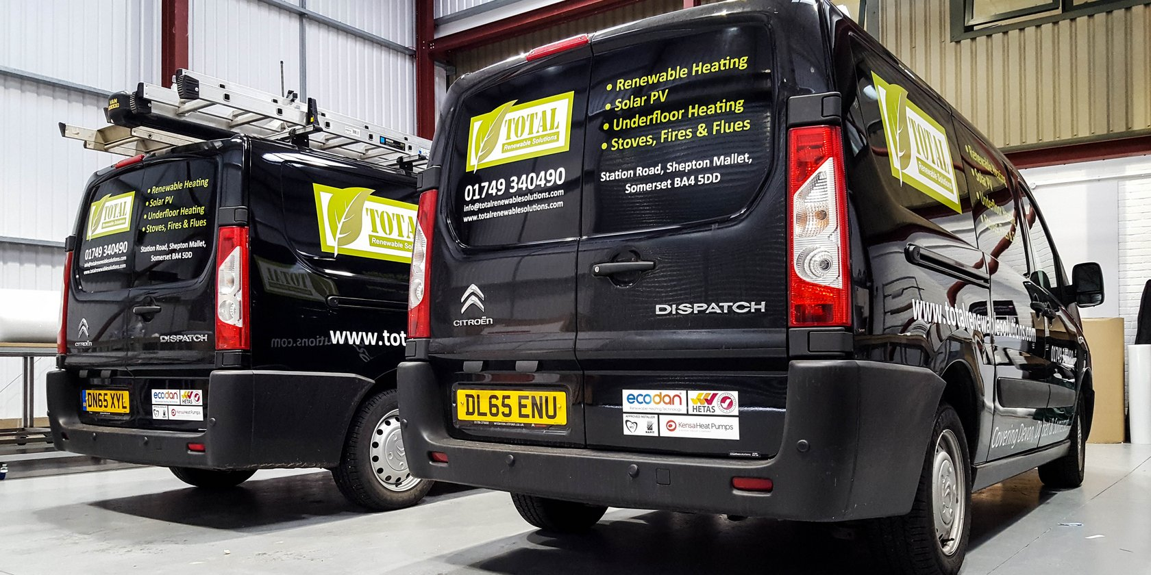 Van Signwriting Total Renewable Solutions