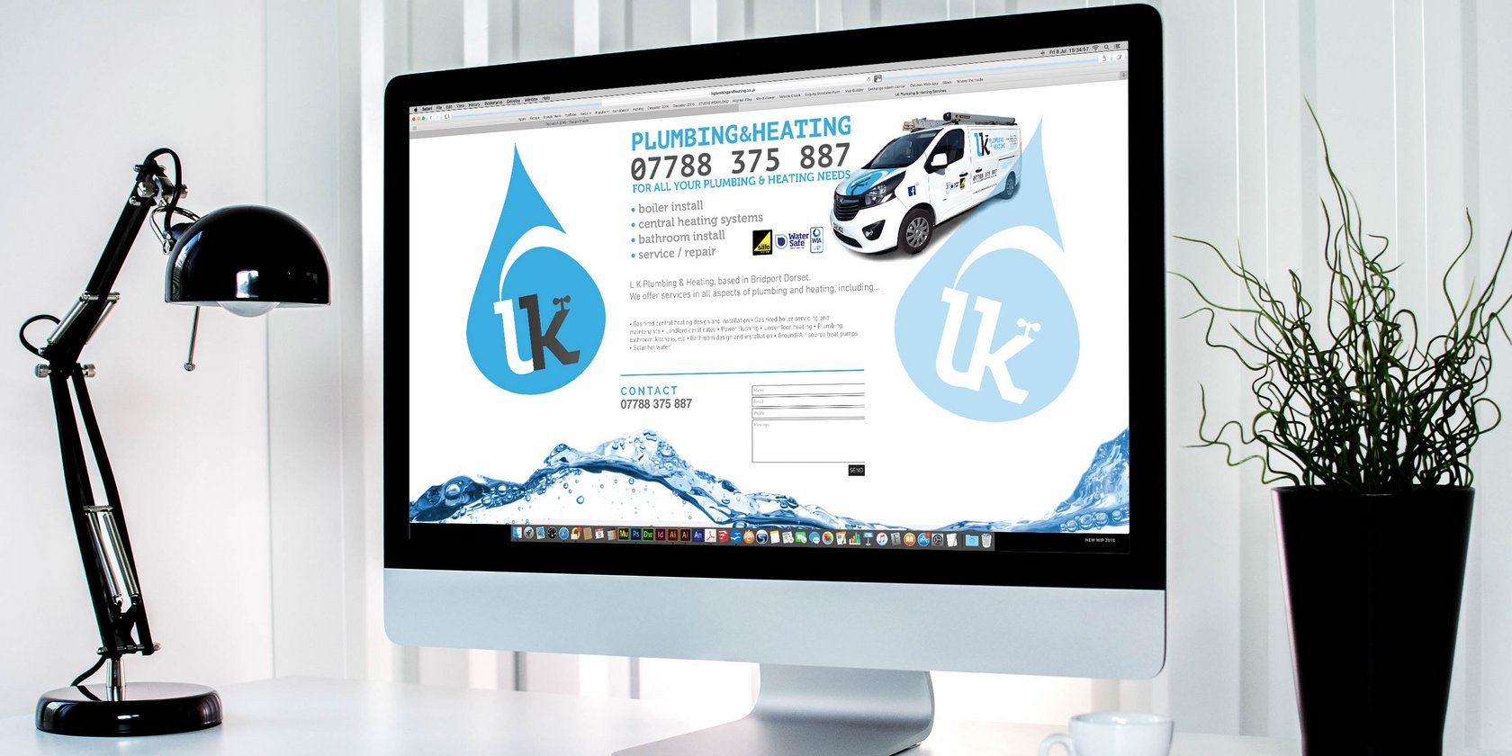 Website Design for LK Plumbing and Heating