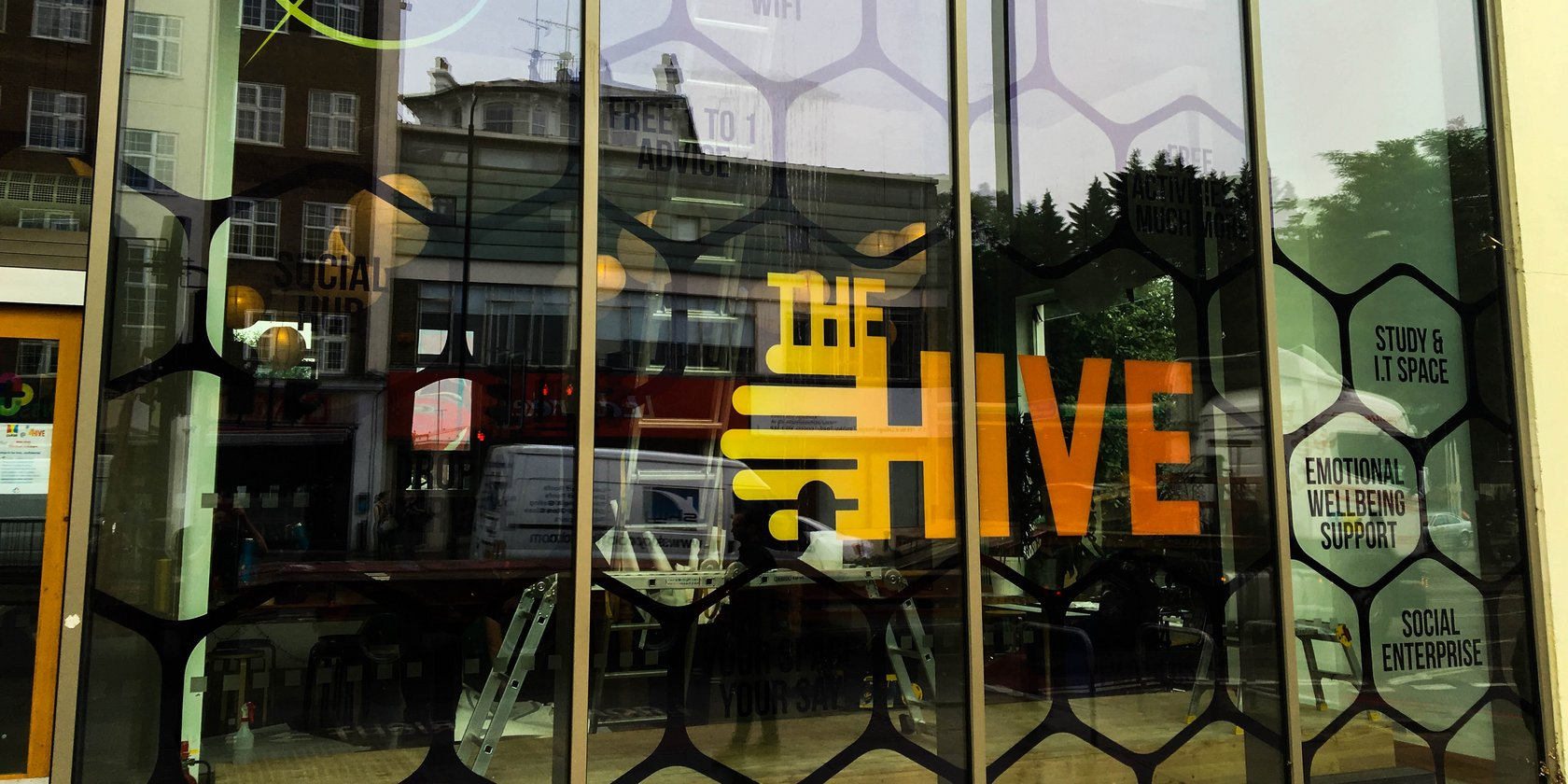 Window Graphics for Axis @ The Hive, London