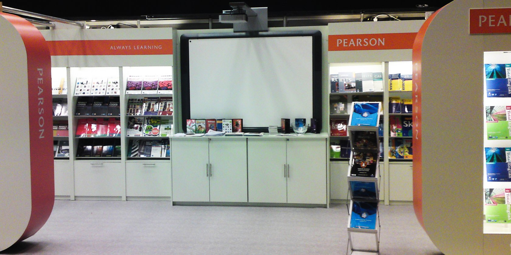Custom Built Exhibition Stand for Pearson