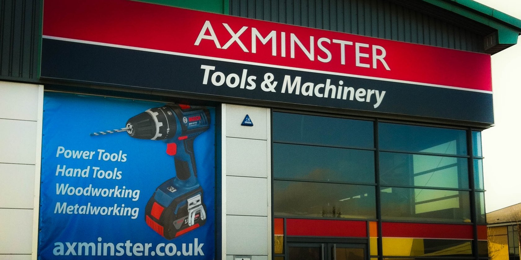 Banners, Posters & External Signs for Axminster Tools by Creative Solutions