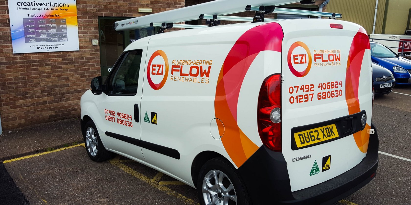 Vehicle Signwriting for Ezi Flow Plumbing and Heating