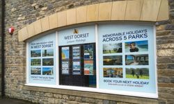 Window Graphics Display for West Dorset Leisure Holidays