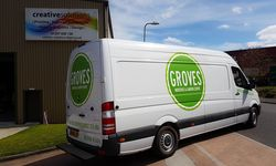 Vehicle Signwriting for Groves Nurseries, Bridport