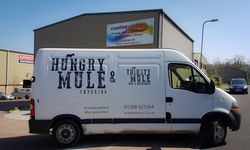 Van Signwriting for Hungry Mule Catering