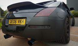 Vehicle Wrapping: Nissan 350 Z Matt Black