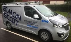 Fleet Van Signwriting for Simon Scott Electrical