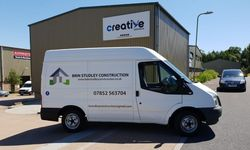 Design, Print & Install of Vehicle Graphics for Brin Studley Construction