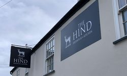 "Pub Sign Rebrand for Musbury Local ""The Hind"""