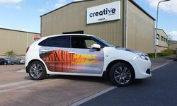 Vehicle Wrapping for Sparky Driving School