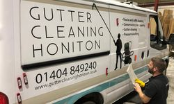 Van Signwriting for Gutter Cleaning Honiton