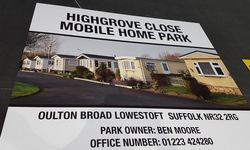 Outdoor Signs for Highgrove Close Mobile Home Park