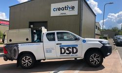 DSD Mobile Tyres - Vehicle Graphics for Toyota HiLux