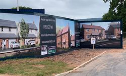 Printed Hoarding Boards and Hoarding Construction for Summerfield Developments