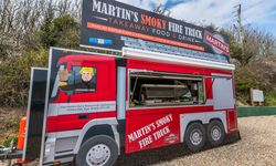 Trailer Graphics for Martin's Smoky Fire Truck