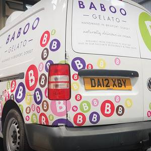 Baboo Gelato Vehicle Graphics