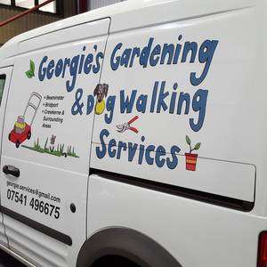 Georgie's Dog Walking Vehicle Graphics