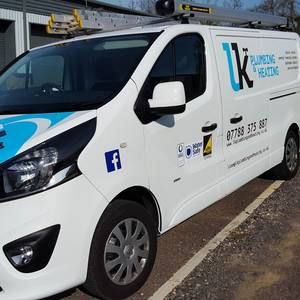 LK Plumbing Van Signwriting and Web Design