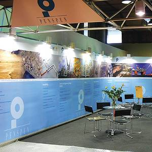 Shell Clad Exhibition Panels