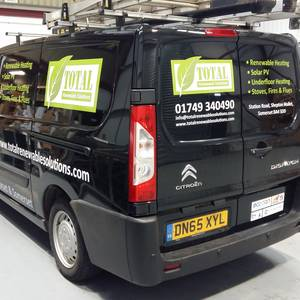 Van Signwriting Fleet Graphics Total Renewables