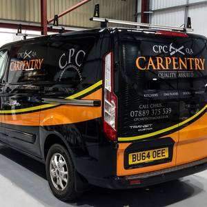 Vehicle Graphics Design for CPC Carpentry
