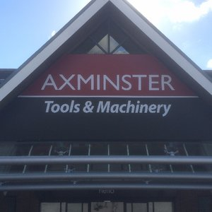 Axminster Tools custom light box sign