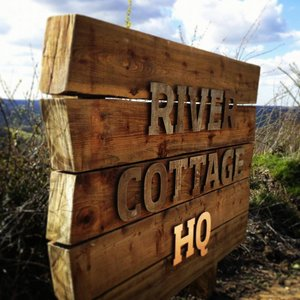 Bespoke Wooden Signage for The River Cottage HQ