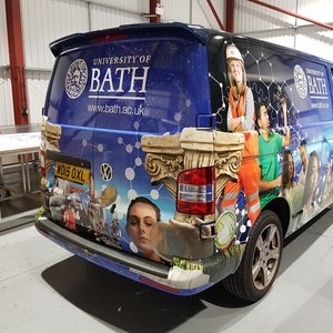 Full Van Wrap for the University of Bath